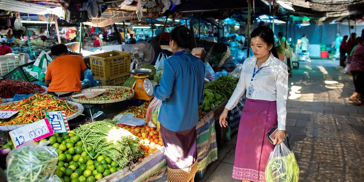 Khua Din Market, le marché de la ville - Vientiane - Laos