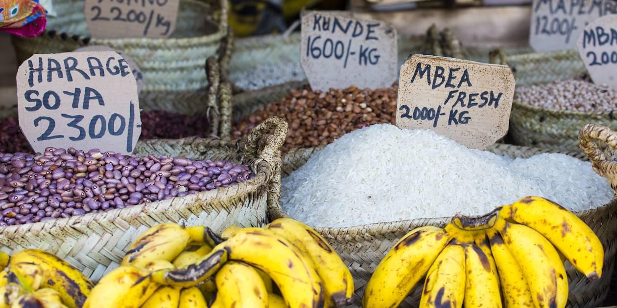 Détail d'un étal d'un marché - Tanzanie