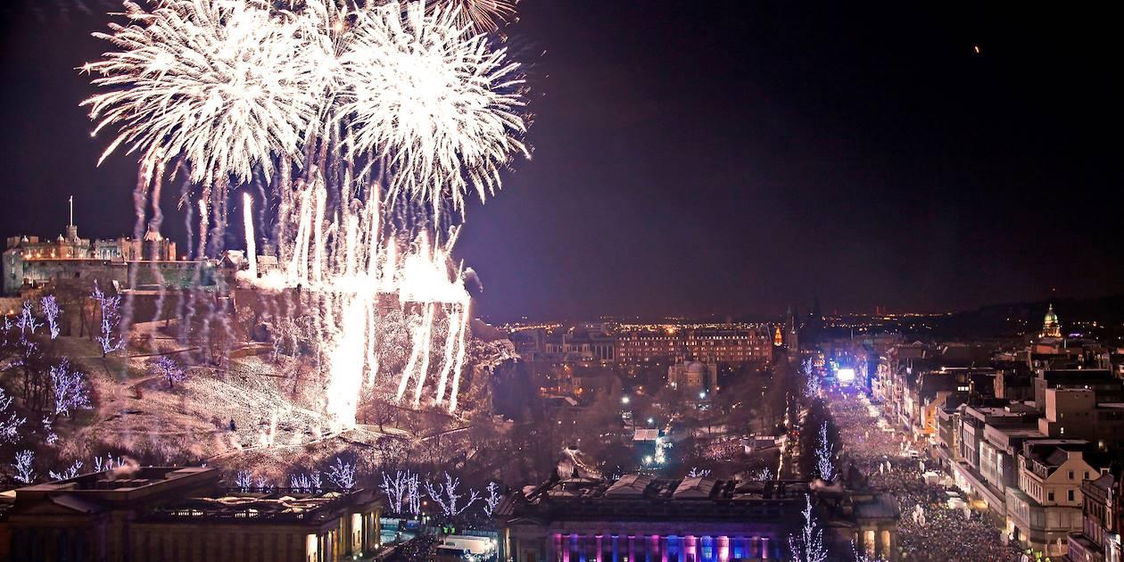 Célébration d'Hogmanay - Edimbourg - Ecosse - Royaume-Uni