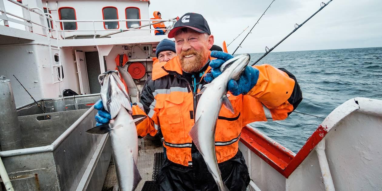 Partie de pêche dans les Lofoten : portrait du capitaine Borge Iversen - Ballstad - Norvège