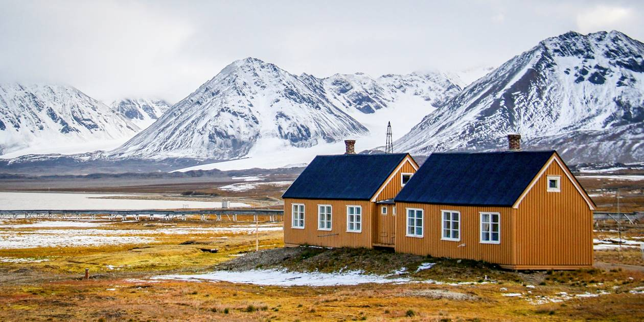 Maisons traditionnelles sur l'archipel de Svalbard - Norvège