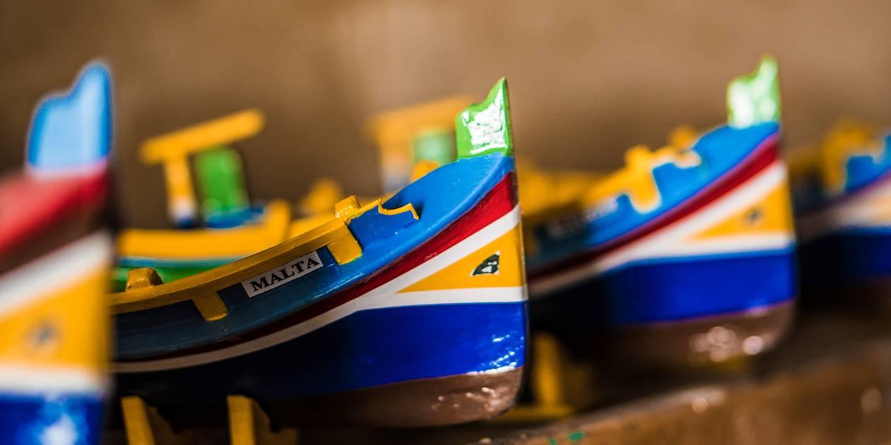 Miniatures des bateaux traditionnels maltais - Malte