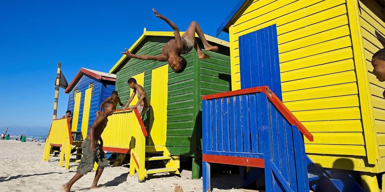 Cabines de plage de Muizenberg - Province du Cap-Occidental - Afrique du Sud