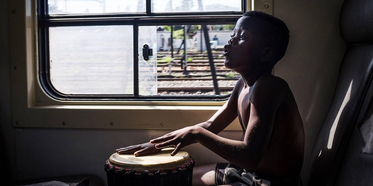 À bord du train qui relie Le Cap et Simon's Town - Le Cap - Afrique du Sud