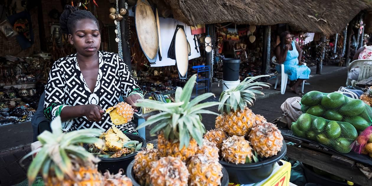 Marché traditionnel zulu à Santa Lucia - Santa Lucia - KwaZulu-Natal - Afrique du Sud