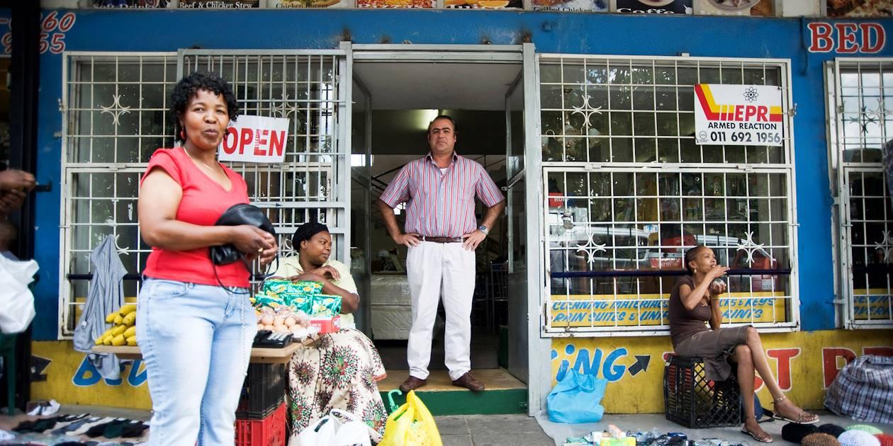 Scène de vie dans les rues de Johannesburg - Afrique du Sud