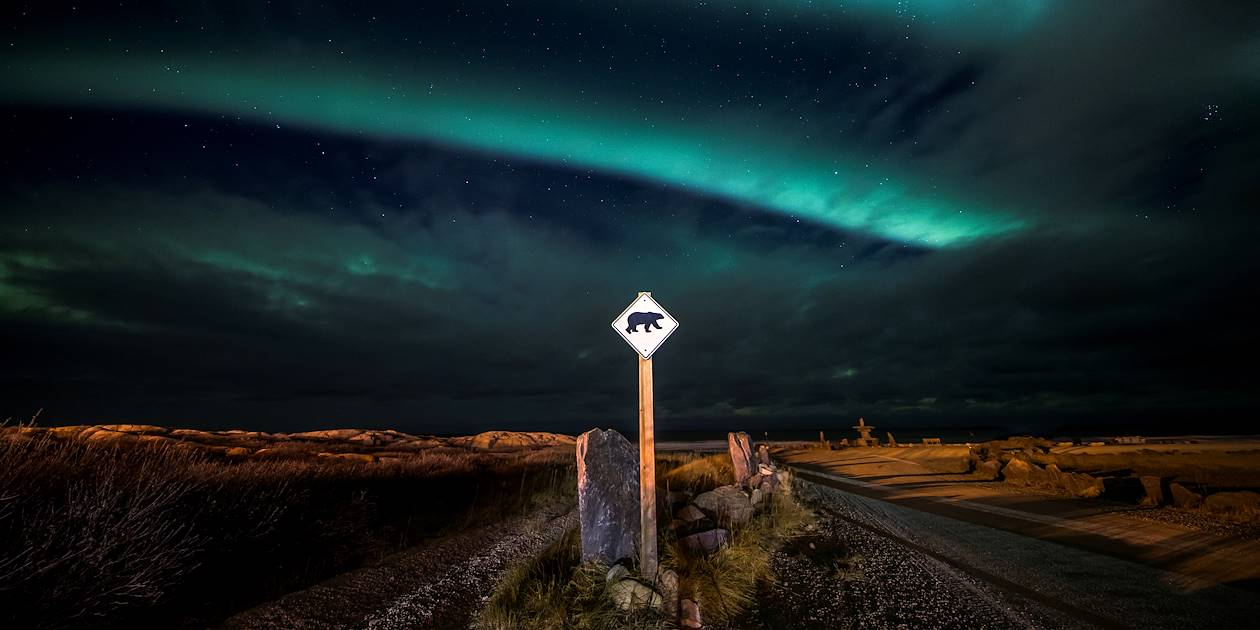 Nuit féérique sur la route de Churchill - Manitoba- Canada