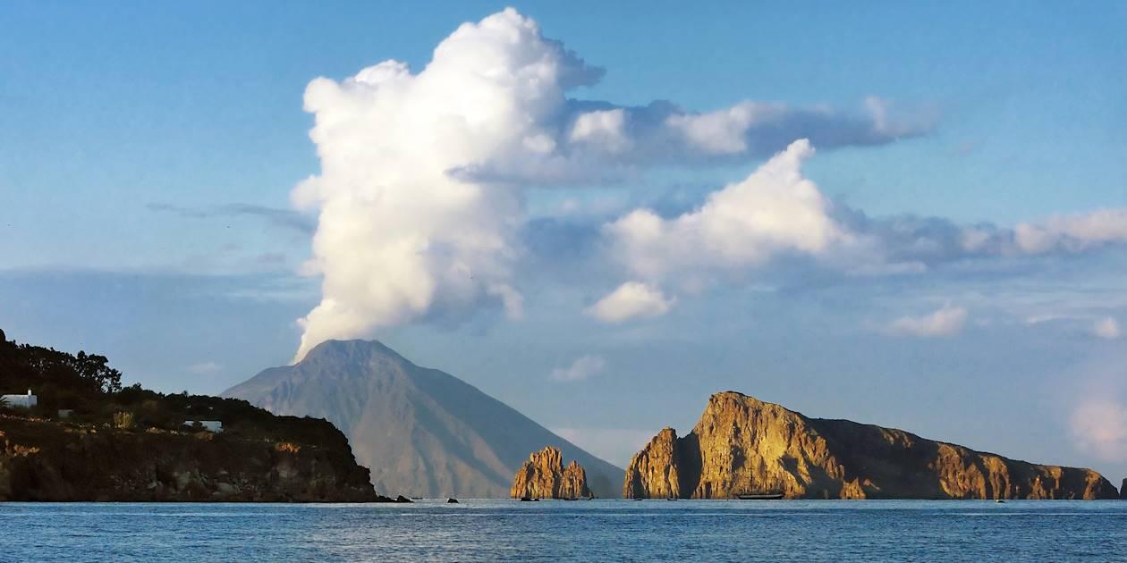 Île et volcan de Stromboli - Îles Éoliennes - Sicile - Italie