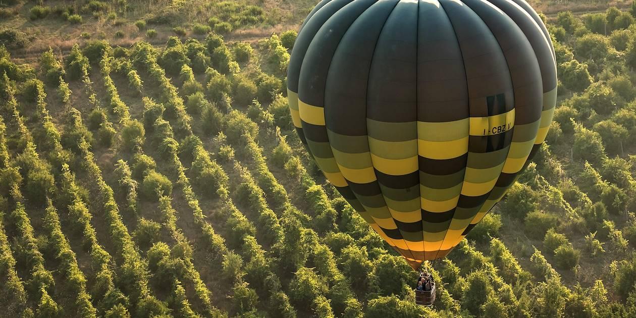 Vol en montgolfière au-dessu de la Toscane - Italie