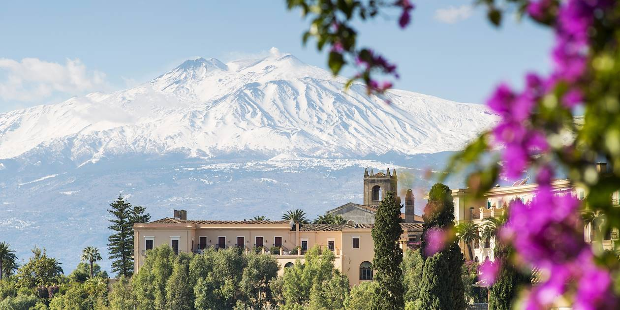 Volcan Etna depuis Taormina - Sicile - Italie