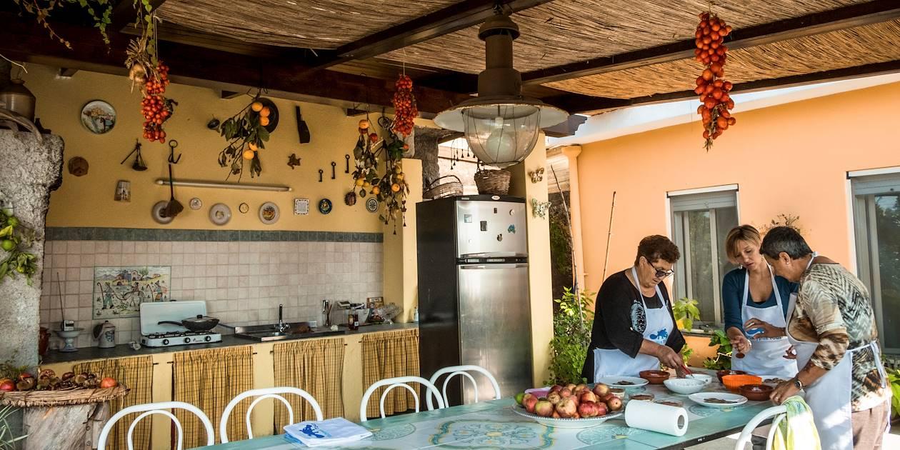 Cours de cuisine et déjeuner chez une famille locale - Ischia - Campanie - Italie