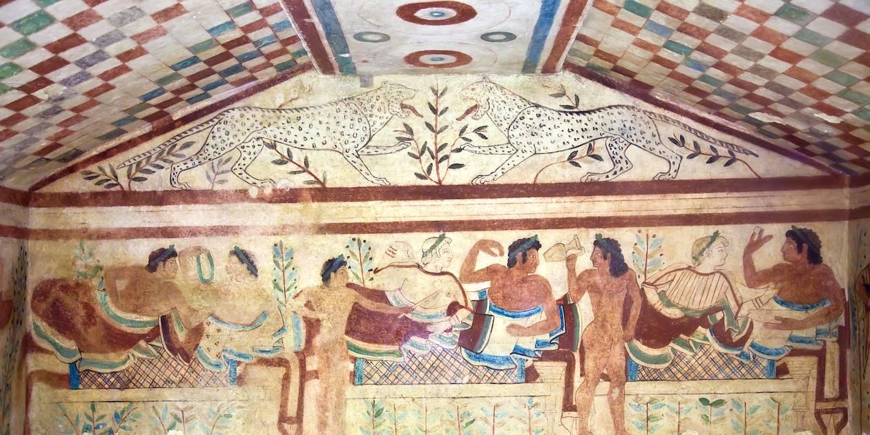Nécropole antique étrusque de Monterozzi - Tarquinia - Italie