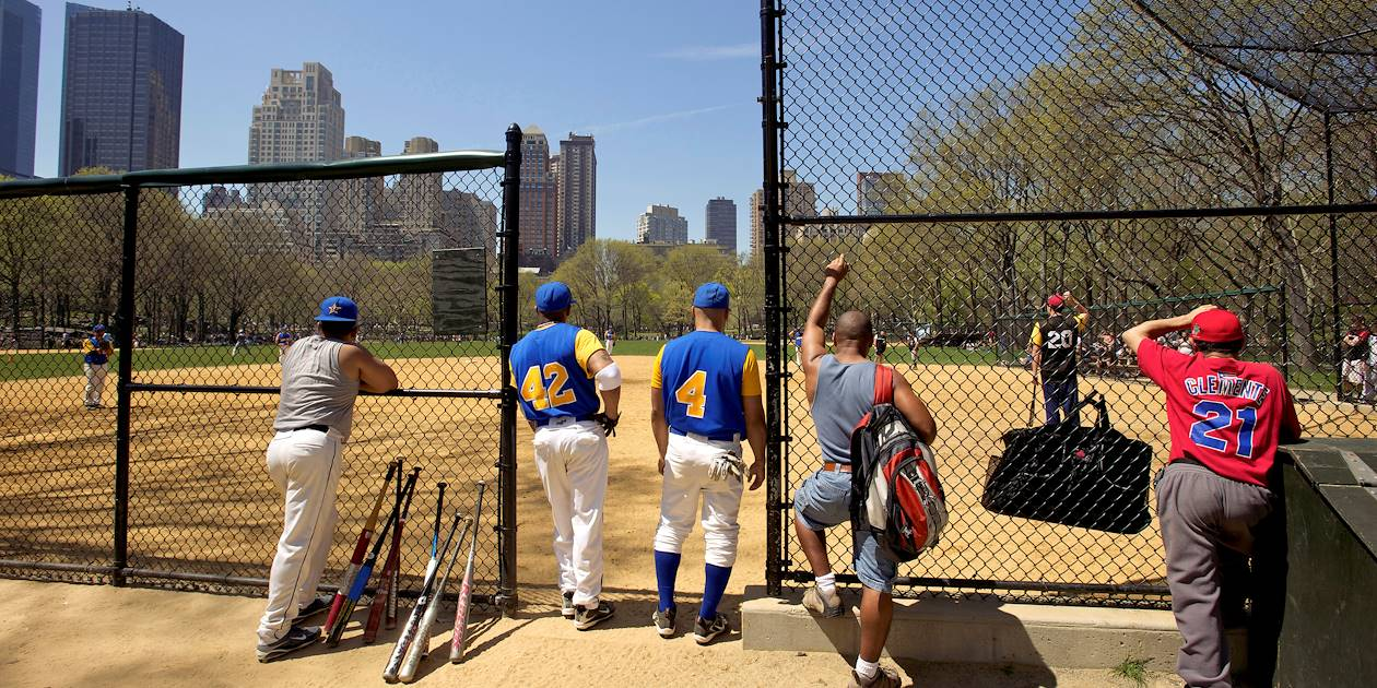 Terrain de baseball - Central Park - Manhattan - New York - Etats Unis
