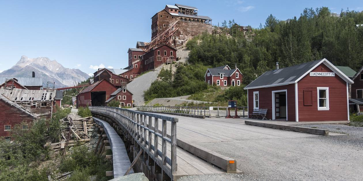 Ancienne mine de Kennecott dans le parc national Wrangell-St. Eliask - McCarthy - Alaska - Etats-Unis