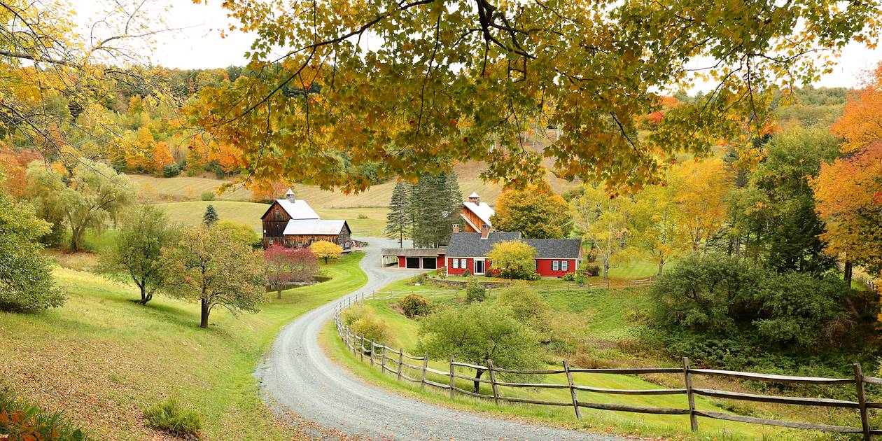 Ferme dans les environs de Woodstock - Vermont - Etats-Unis