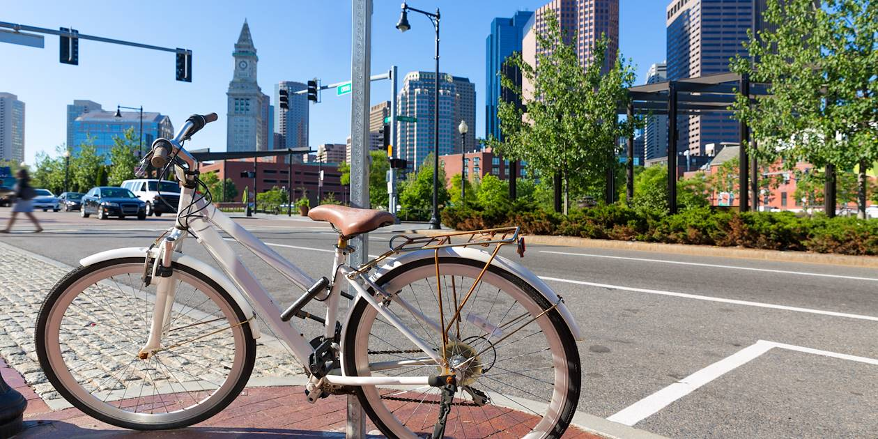 Boston à vélo - Boston - Massachusetts - États Unis