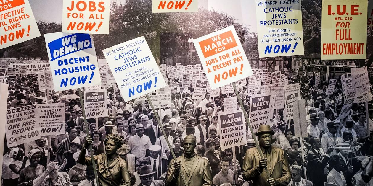 Musée national des droits civiques : exposition autour de Rosa Parks - Memphis - Tennessee - Etats Unis