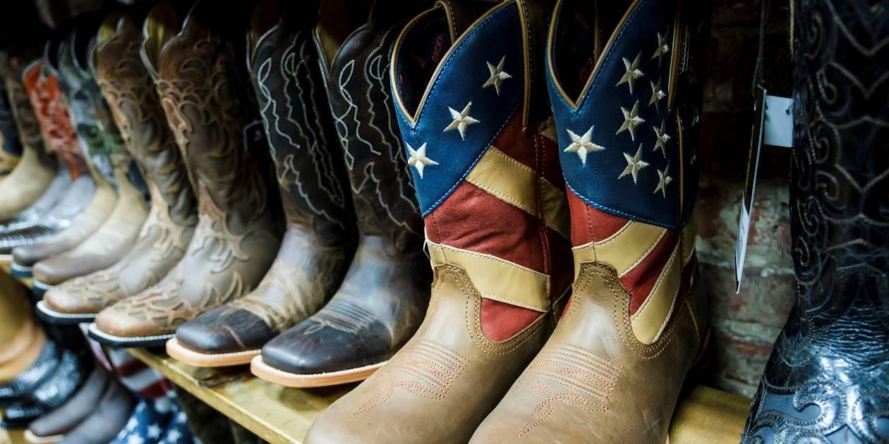 Nashville, berceau de la country : magasin de bottes et santiags - Tennessee - Etats Unis