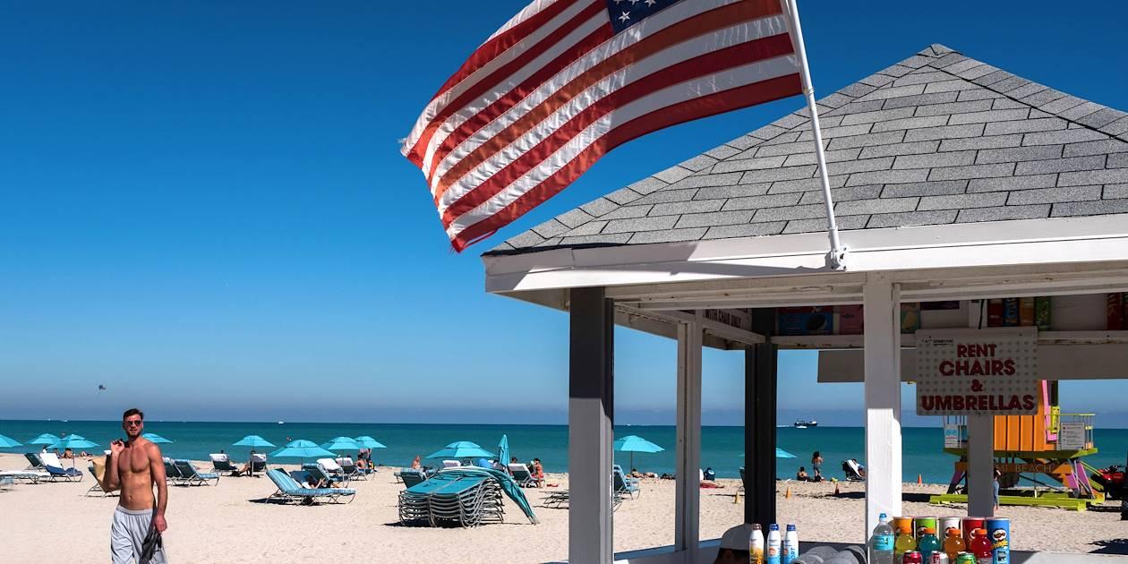 Plage de South Beach - Miami Beach - Floride - Etats-Unis