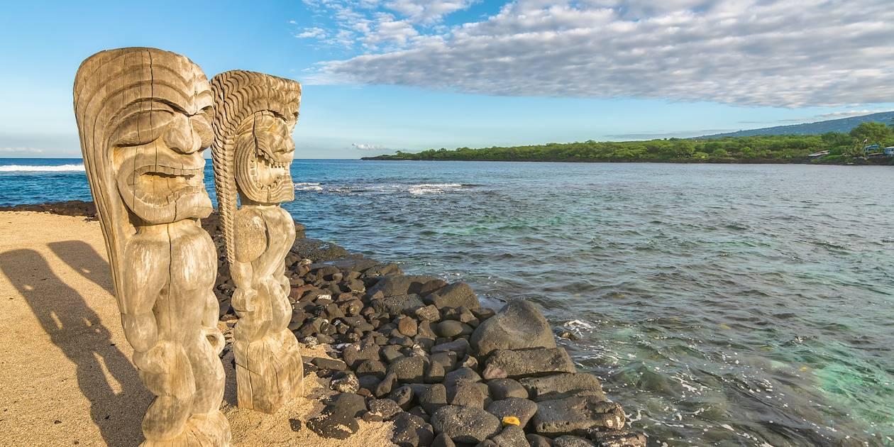 Tikis - Big Island - Hawaï - Etats-Unis