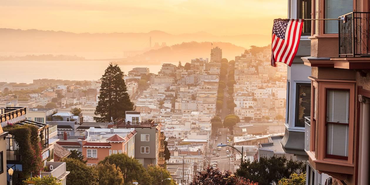 Coucher de soleil sur San Francisco - San Francisco - Californie - États Unis
