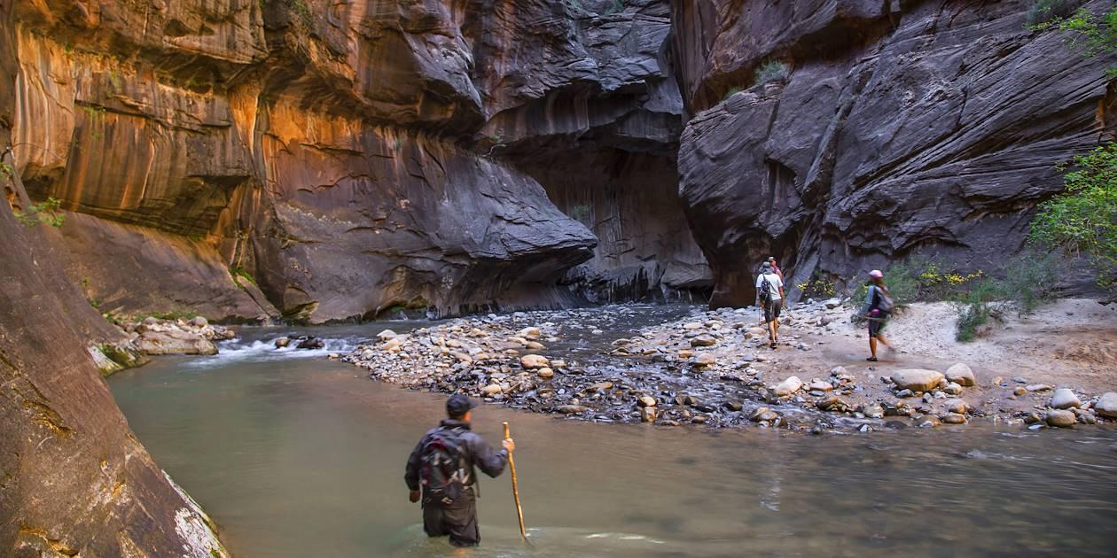 Randonnée dans les Narrows - Parc national de Zion - Utah - États-Unis