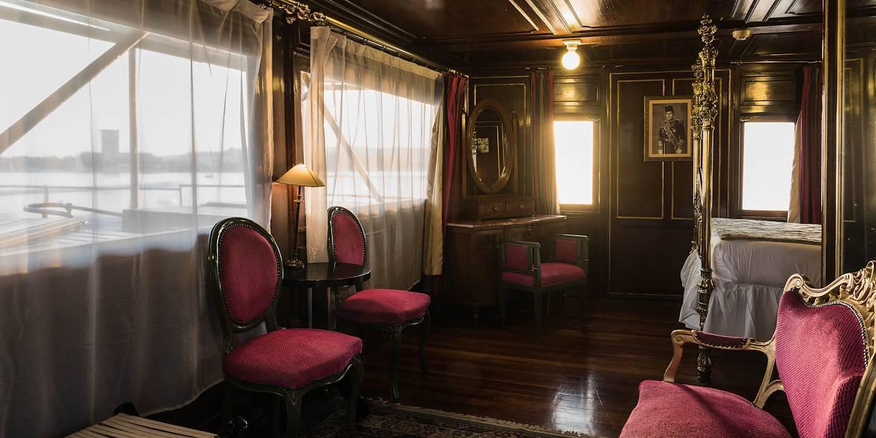 """Cabine """"Oum Kalsoum' du Steam Ship Sudan - Égypte"""