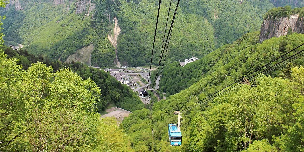 Vue sur le parc national de Daisetsuzan depuis le Mont Kurodake - Sounkyo Onsen - Hokkaido - Japon