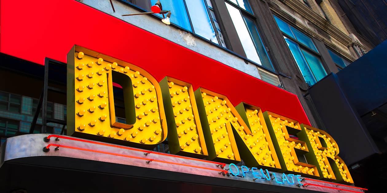 Enseigne de restaurant vintage - Etats-Unis