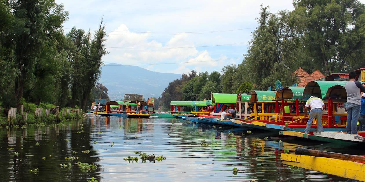 Trajineras à Xochimilco - Mexico - Mexique