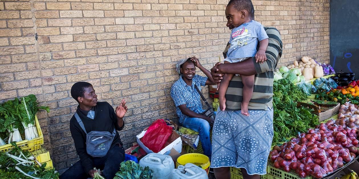 Marché dans le quartier de Woodstock - Le Cap - Afrique du Sud