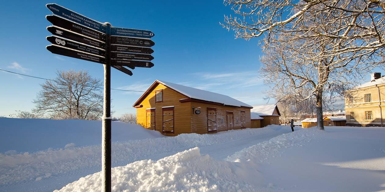 Île de Suomenlina en hiver - Finlande