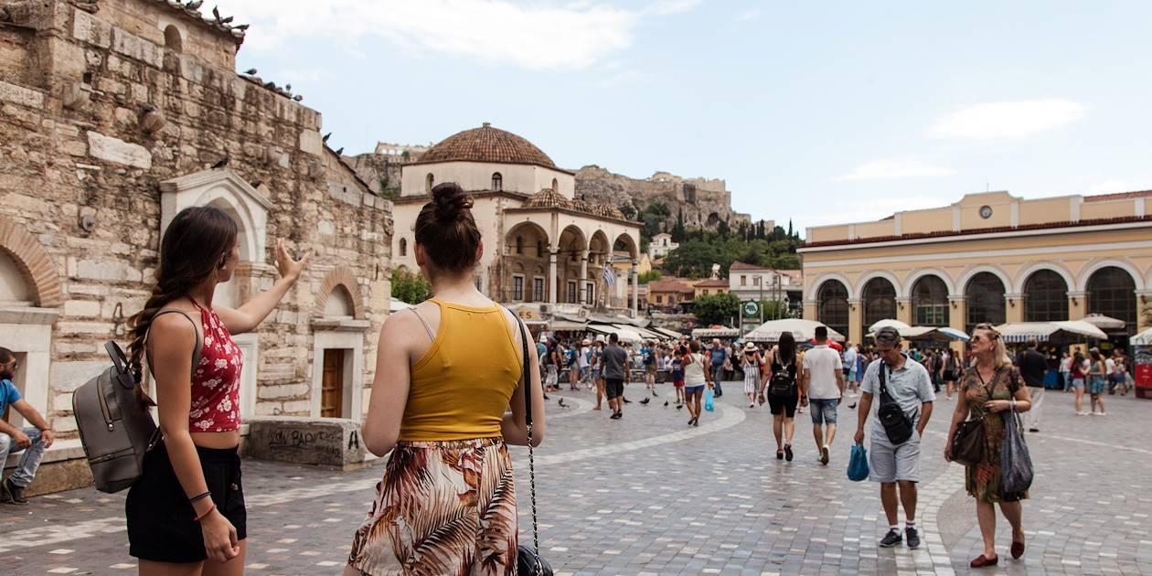 Sur la place Monastiraki - Athènes - Grèce