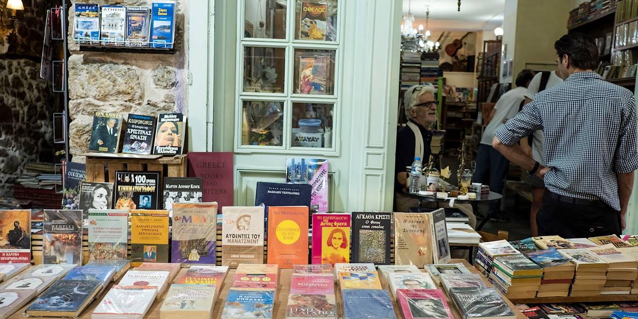 Libraire dans le marché aux puces - Athènes - Grèce