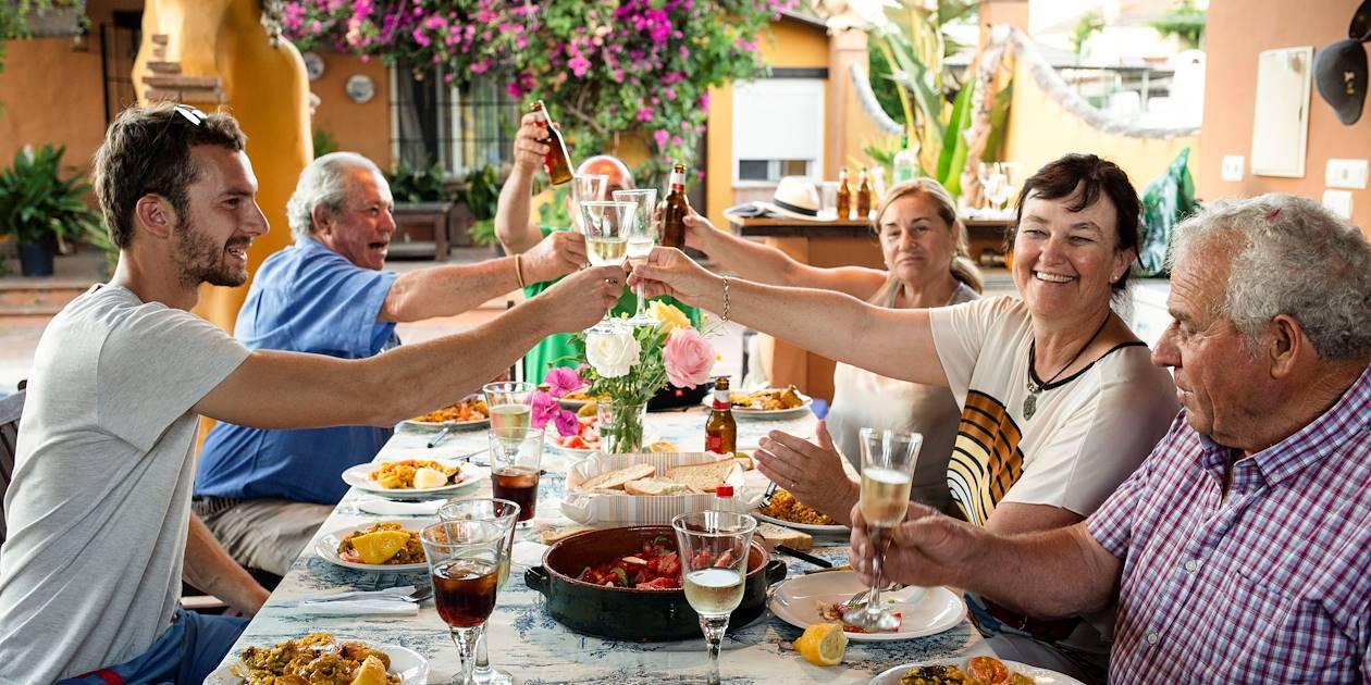 Cours de cuisine : dégustation de la paëlla - Pizarra - Andalousie - Espagne