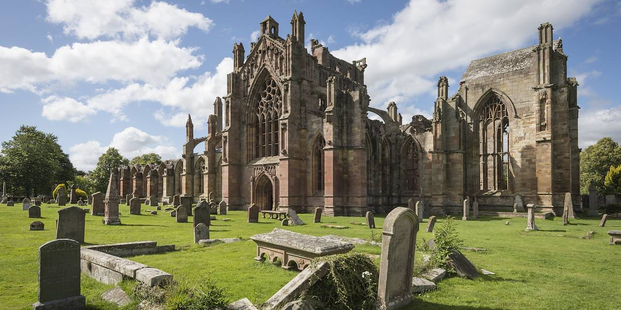 Melrose Abbey - Melrose - Écosse - Royaume Uni