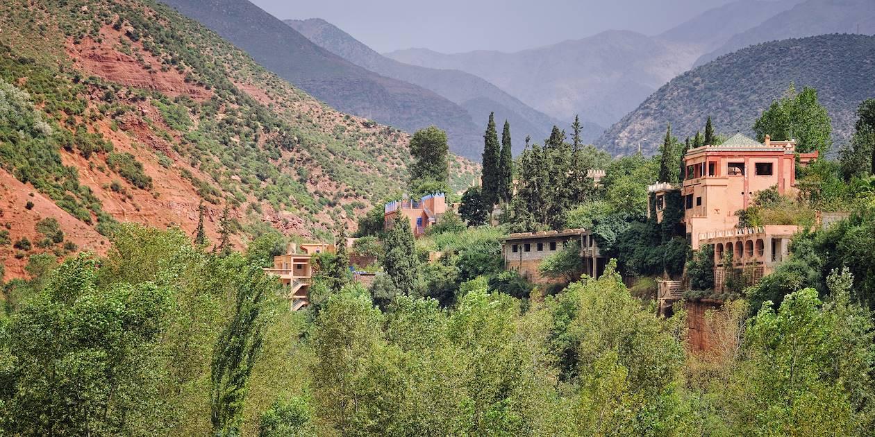 Village dans la Vallée d'Ourika - Maroc