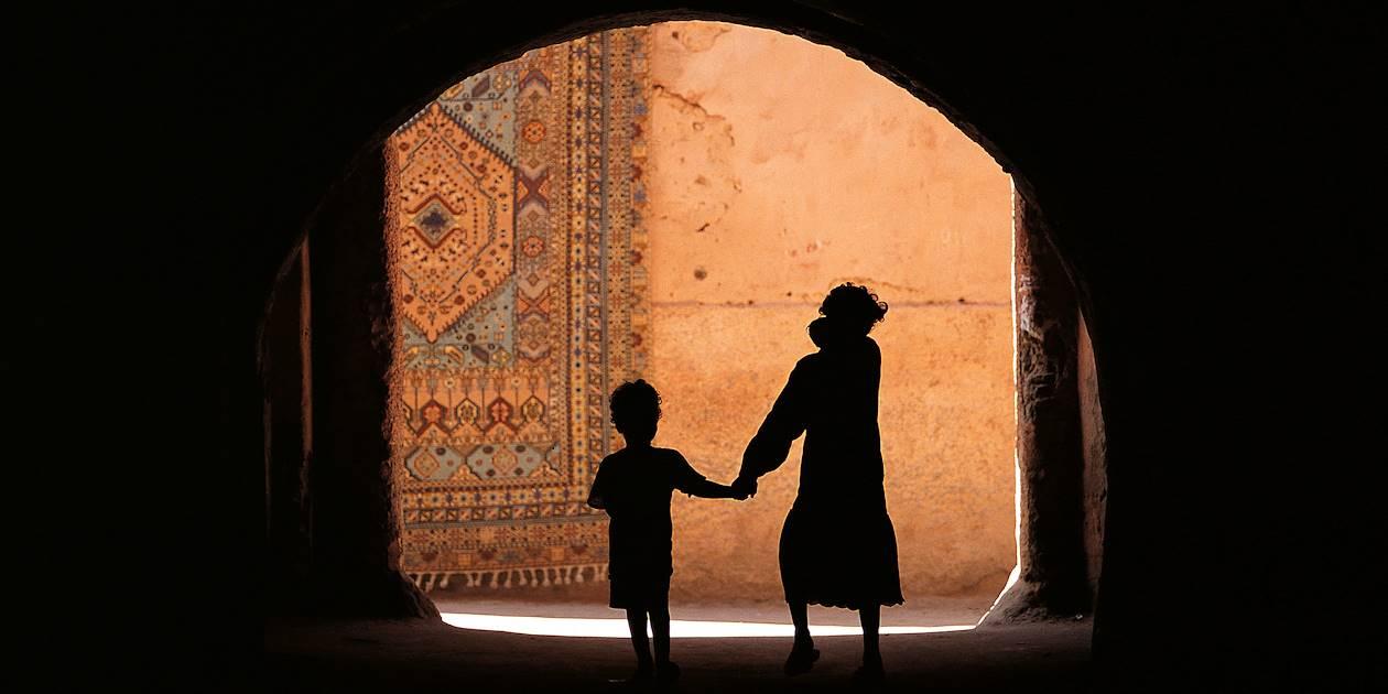 Silhouette d'enfants - Maroc