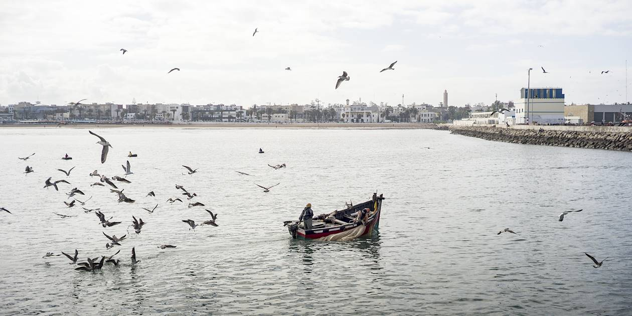 Pêcheur sur les côtes d'El Jadida - Maroc