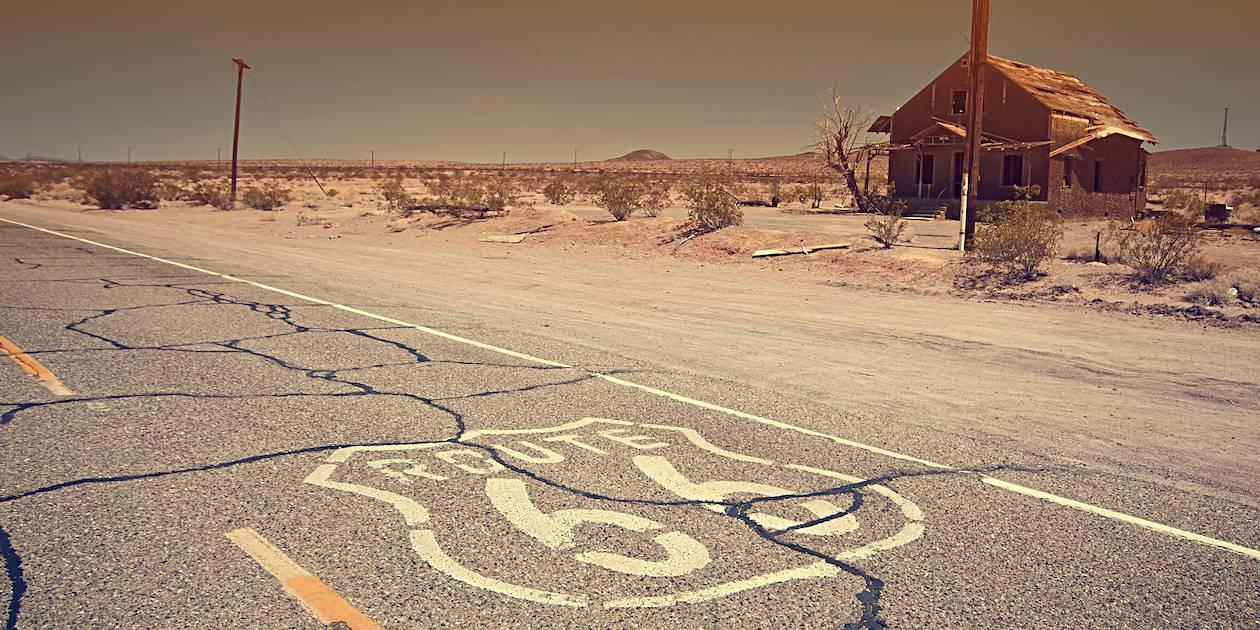 Ancienne route 66 - Désert de Mojave - Californie - États-Unis
