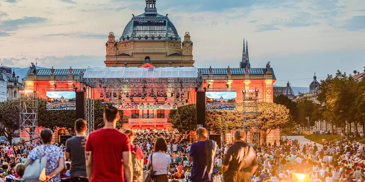 Concert en plein air à Zagreb - Croatie