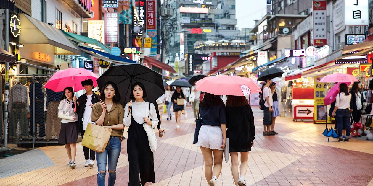 Quartier de Hongdae à Séoul - Corée du Sud