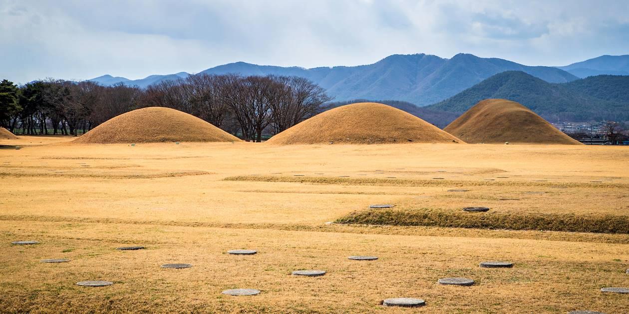 Tombes royales dans la parc des Tumulus - Gyeongju - Corée du Sud