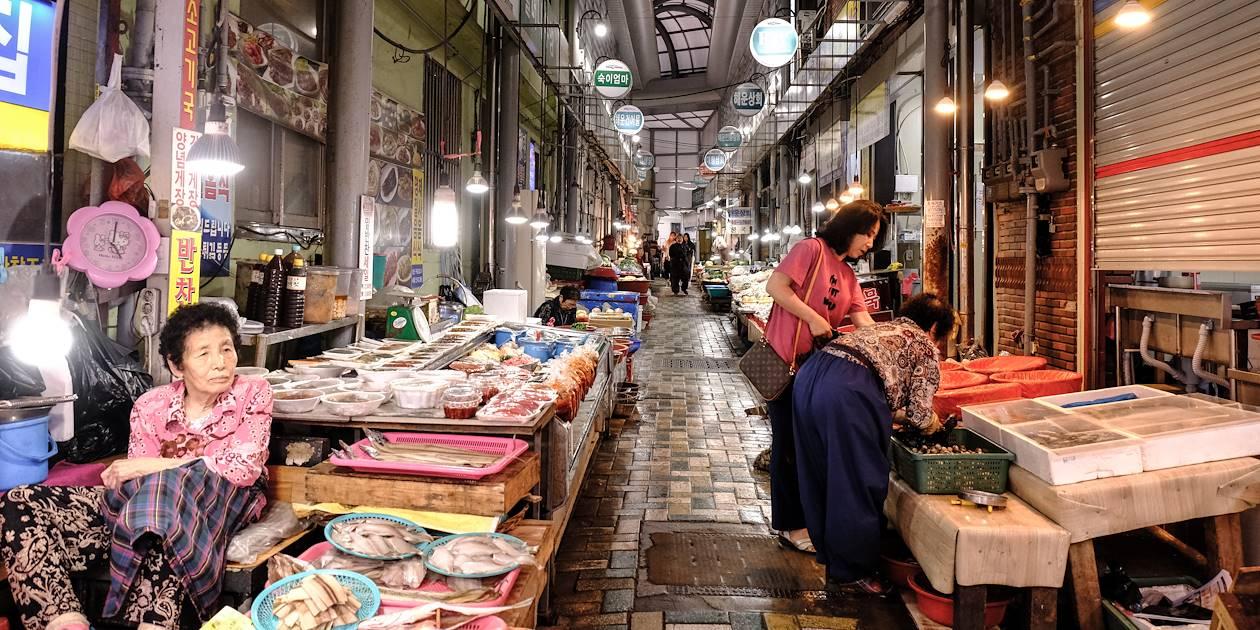Marché aux poissons à Busan - Corée du Sud