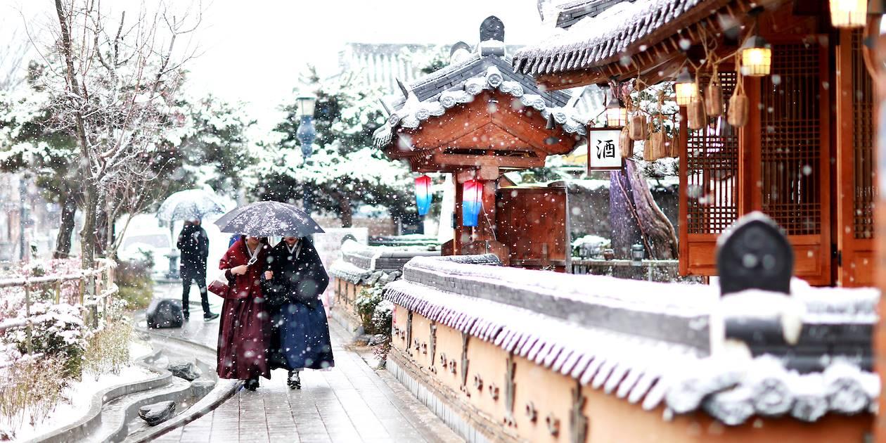 Jeonju Hanok Village en hiver - Corée du Sud