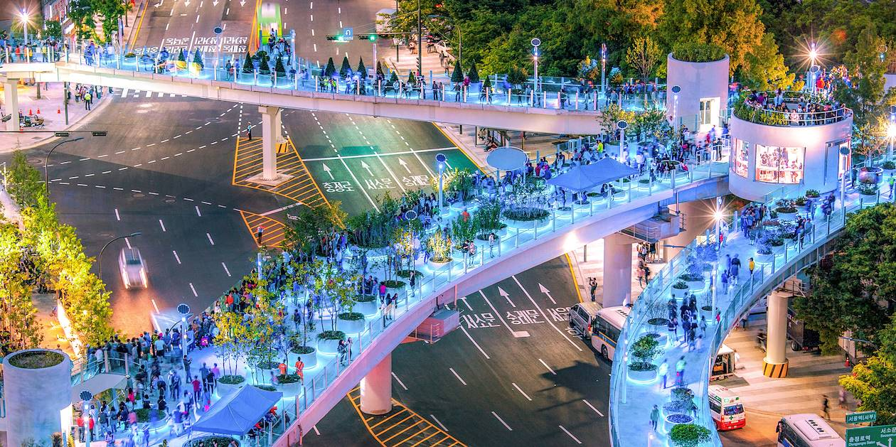 Vie nocturne dans le quartier de Jung-gu - Seoul - Corée du Sud