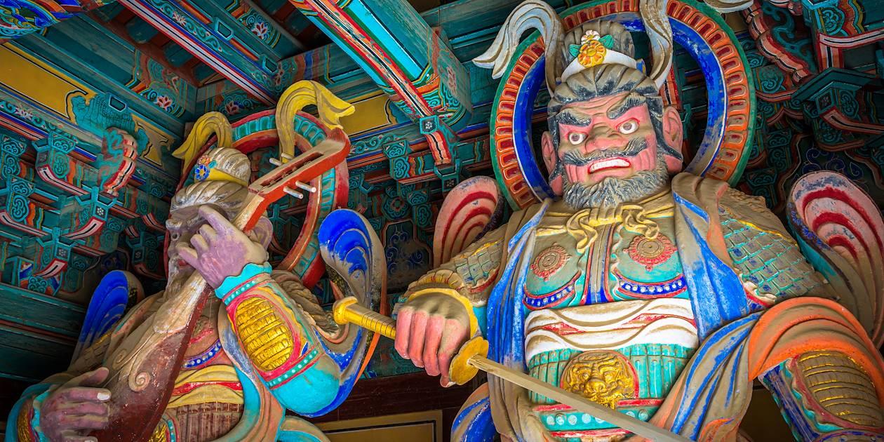 Gardes à l'entrée du Temple de Bulguksa - Gyeongju - Corée du Sud