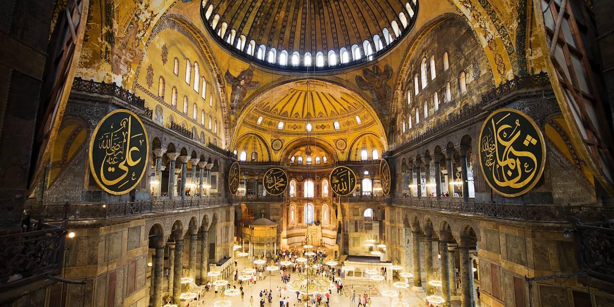 Intérieur de la Basilique Sainte-Sophie - Istanbul - Turquie
