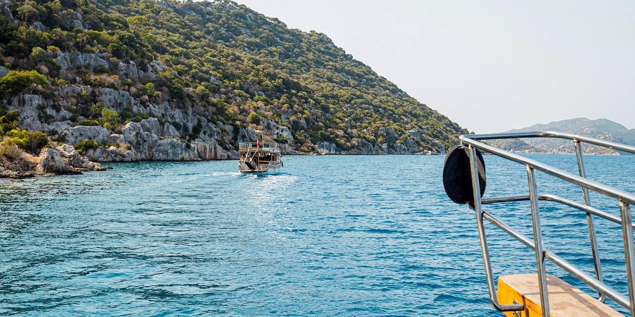 Tour en bateau autour de l'île de Kekova- Turquie