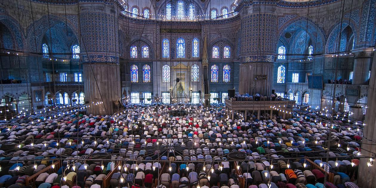 Prière du vendredi, à la Mosquée Bleue - Istanbul - Turquie